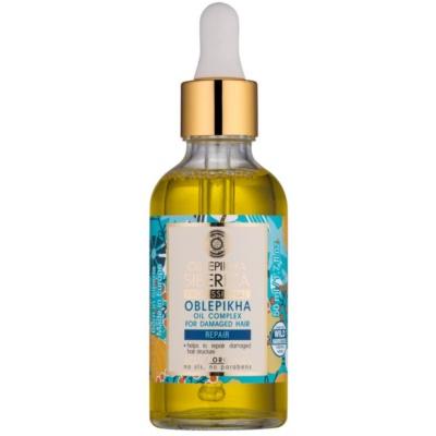 Natura Siberica Sea-Bucktorn óleo de cuidado para cabelo danificado