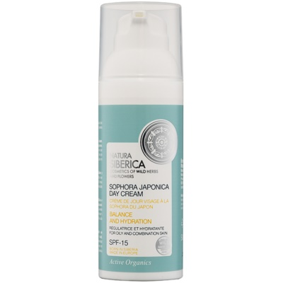 Natura Siberica Sophora Japonica Moisturizing Day Cream for Oily and to Combination Skin SPF 15