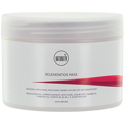Naturativ Hair Care Regeneration Mask For Hair Strengthening And Shine