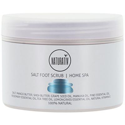 soľný peeling na nohy