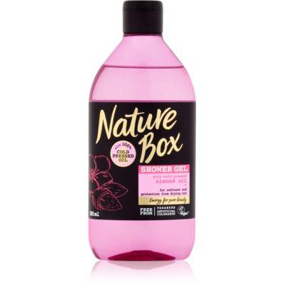 Nature Box Almond bőrlágyító tusfürdő gél bőrszárazság ellen