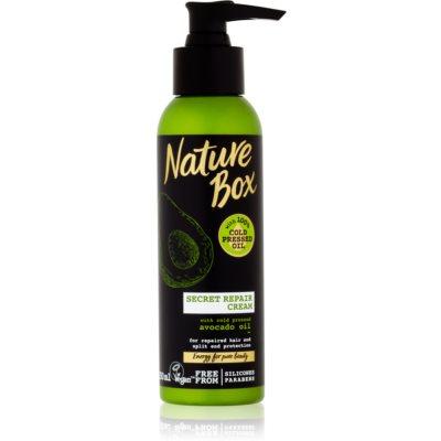 Nature Box Avocado βαθιά αποκαταστατική κρέμα για  ψαλίδα των μαλλιών