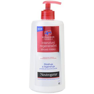 Neutrogena Sensitive интензивно регенериращо мляко за тяло за суха и чувствителна кожа