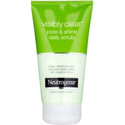 Neutrogena Visibly Clear Pore & Shine απολέπιση προσώπου για καθημερινή χρήση