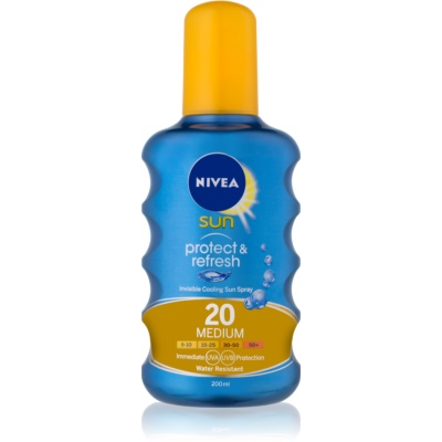 Nivea Sun Protect & Refresh spray solaire rafraîchissant transparent SPF 20