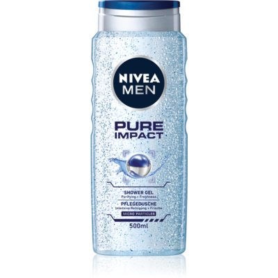 Nivea Men Pure Impact Shower Gel for Face, Body, and Hair