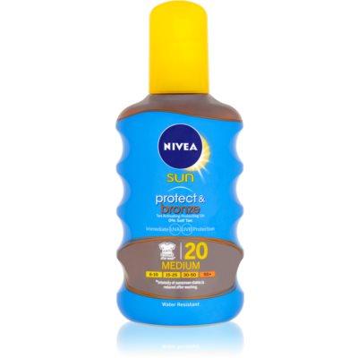 Nivea Sun Protect & Bronze Torr sol-olja  SPF 20