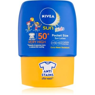 Nivea Sun Kids detské mlieko na opaľovanie do vrecka SPF50+