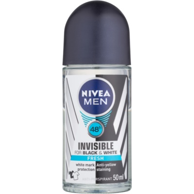 Nivea Men Invisible Black & White antitranspirante roll-on para homens