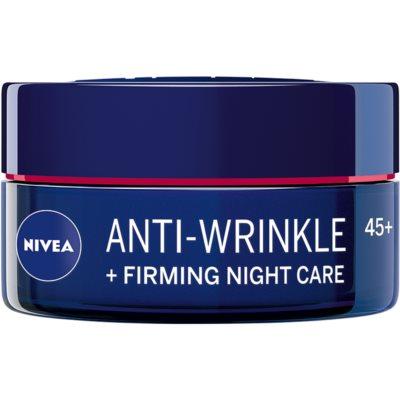 crema de noche reafirmante antiarrugas 45+