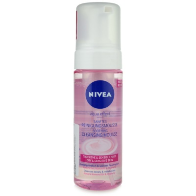 Nivea Aqua Effect Cleansing Foam For Sensitive Dry Skin