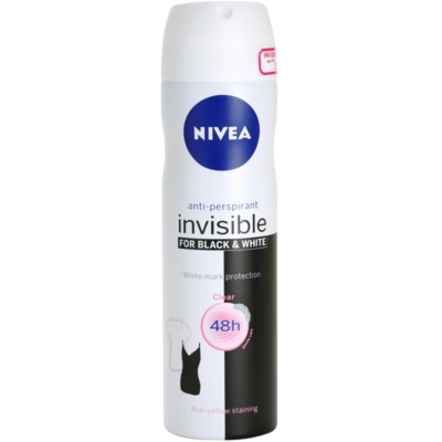 Nivea Invisible Black & White Clear antitranspirantes em spray