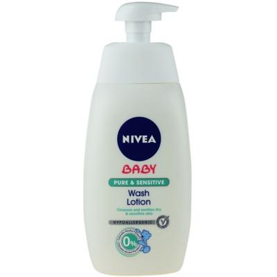 Nivea Baby Pure & Sensitive umývací gél na tvár, telo a vlasy