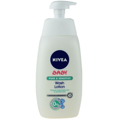 Nivea Baby Pure & Sensitive почистващ гел за лице, тяло и коса