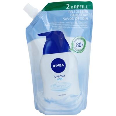 Nivea Creme Soft tekuté mydlo náhradná náplň