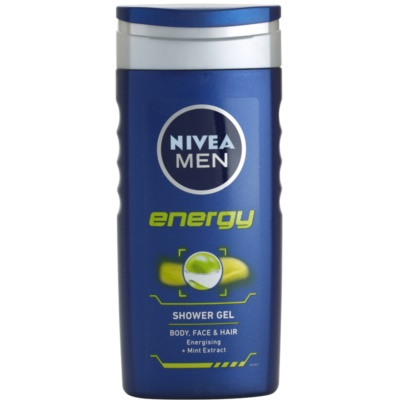 Nivea Men Energy gel za prhanje za obraz, telo in lase