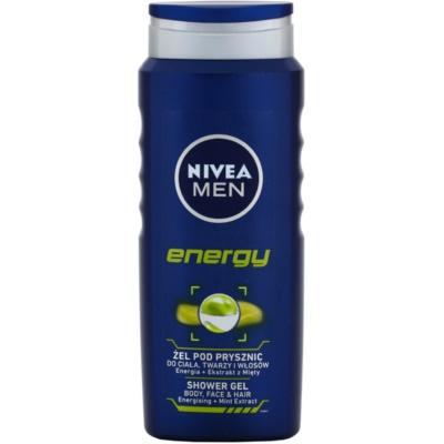 Nivea Men Energy tusfürdő gél arcra, testre és hajra