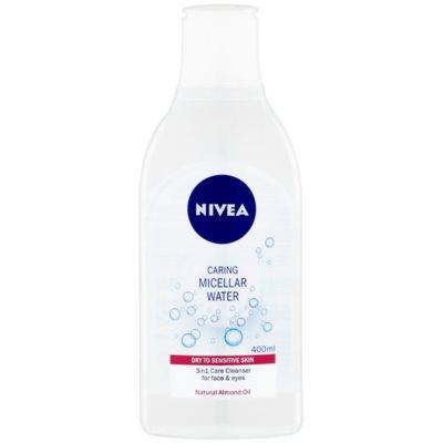 міцелярна вода для дбайливого очищення для сухої та чутливої шкіри