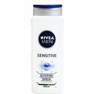 Nivea Men Sensitive gel de ducha para rostro, cuerpo y cabello