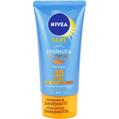 Nivea Sun Protect & Bronze інтенсивний крем для обличчя для засмаги SPF 30