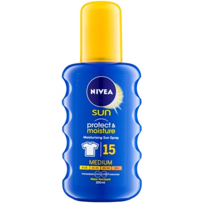Nivea Sun Protect & Moisture spray do opalania SPF 15