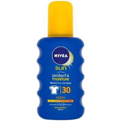 Nivea Sun Protect & Moisture hydratačný sprej na opaľovanie SPF30