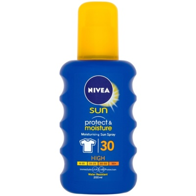 Nivea Sun Protect & Moisture vlažilno pršilo za sončenje SPF 30