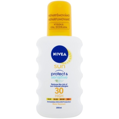 Nivea Sun Pure & Sensitive spray solar SPF 30