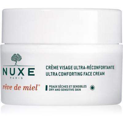 Nuxe Rêve de Miel crema de día  hidratante y nutritiva  para pieles secas