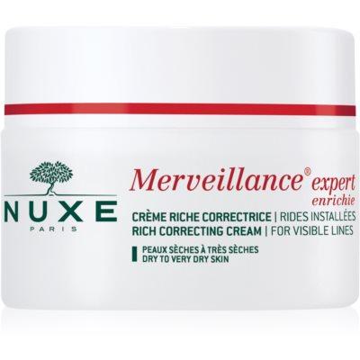 Nuxe Merveillance krem przeciwzmarszczkowy do skóry suchej i bardzo suchej
