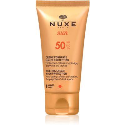 Nuxe Sun crema abbronzante viso SPF 50