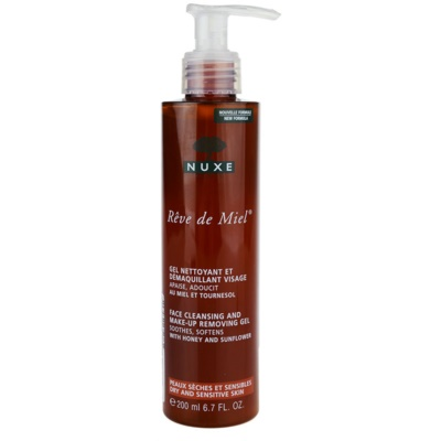 Nuxe Reve de Miel gel nettoyant pour peaux sensibles et sèches