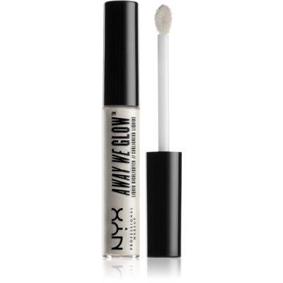 NYX Professional Makeup Away We Glow υγρό λαμπρυντικό απόχρωση 01 Liquid Prism 6,8 μλ
