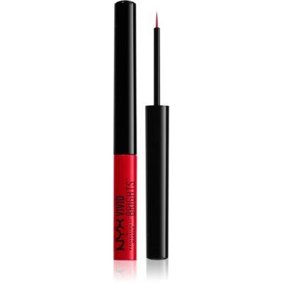 NYX Professional Makeup Vivid Brights kolorowe eyelinery w płynie