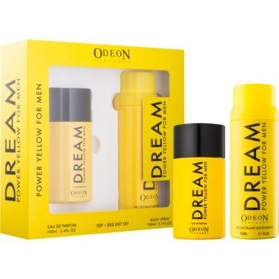 Odeon Dream Power Yellow Geschenkset I.  Eau de Parfum 100 ml + Deo-Spray 150 ml