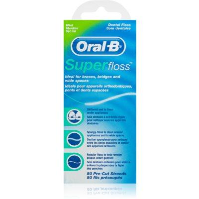 Oral B Super Floss fil dentaire pour appareils dentaires et implants