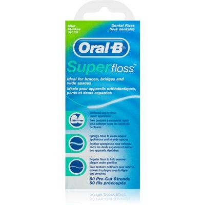 Oral B Super Floss дентален концец за брекети и импланти