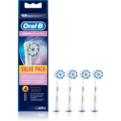 Oral B Sensitive UltraThin EB 60 Replacement Heads For Toothbrush