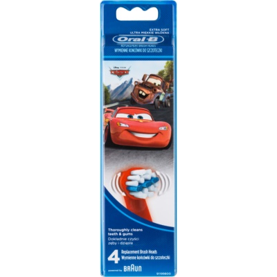 Oral B Stages Power EB10 Cars Replacement Heads For Toothbrush Extra Soft