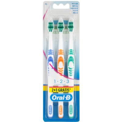 zubní kartáčky medium 3 ks