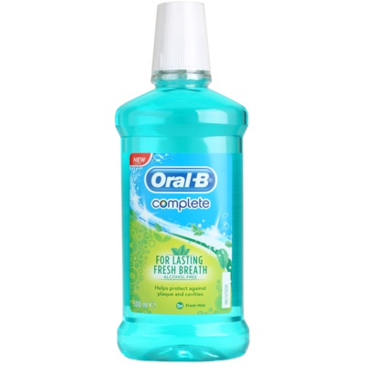 Oral B Complete ustna voda proti zobnim oblogam in za zdrave dlesni
