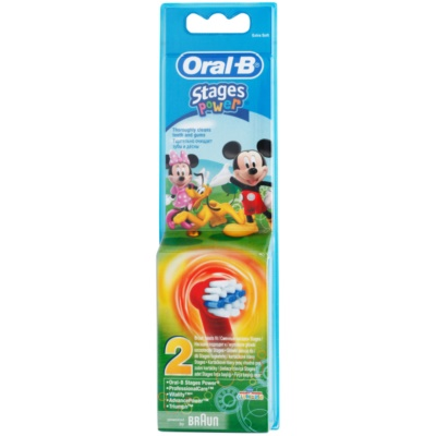 Oral B Stages Power EB10 Mickey Mouse Vervangende Opzetstuk voor Tandenborstel  Extra Soft