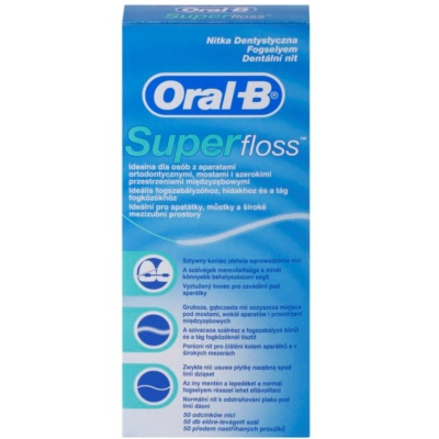 Oral B Super Floss Dentale Flosdraad voor Beugels en Implantaten