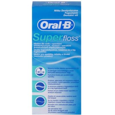 Oral B Super Floss Zahnseide für Zahnklammern und Zahnersatz