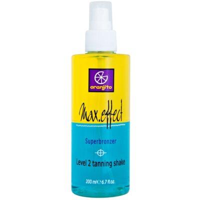 Oranjito Level 2 Shake spray bronzeadores bifásicos de solários