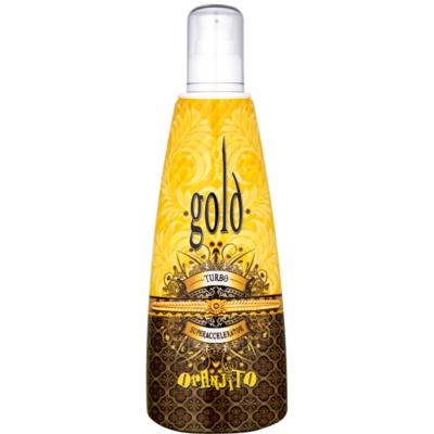 Oranjito Max. Effect Gold Turbo opalovací mléko do solária pro urychlení opalování