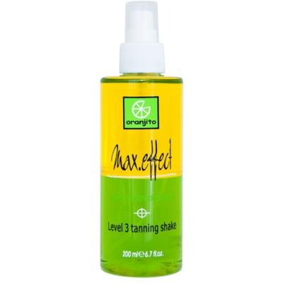 Oranjito Level 3 Shake spray bronzeadores bifásicos de solários