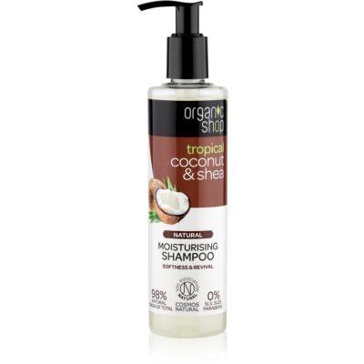 Organic Shop Natural Coconut & Shea shampoo idratante per capelli rovinati e secchi