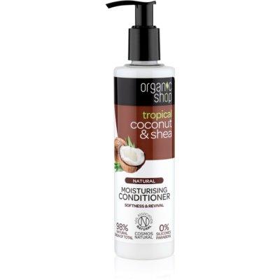 Organic Shop Natural Coconut & Shea condicionador hidratante para cabelo seco a danificado