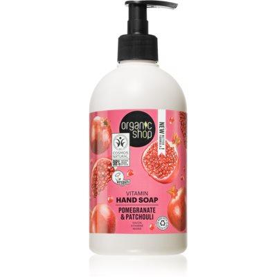 Organic Shop Organic Pomegranate & Patchouli verzorgende vloeibare handzeep met Pompje